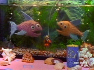 Among the many animated and puppet characters on the children's show Pee-wee's Playhouse (CBS, 1986-1991) were puppet fish in a fish tank, who would greet ...